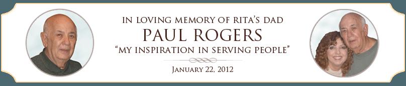 Rita's Dad Paul Rogers